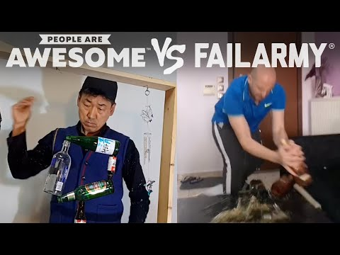 Bottle Stacking Tricks & More | People Are Awesome Vs. FailArmy
