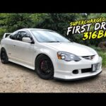 EPIC FIRST DRIVE IN MY *316BHP SUPERCHARGED* DC5 INTEGRA TYPE R
