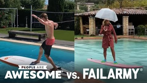 Extreme Pool Surfing   People Are Awesome vs. FailArmy