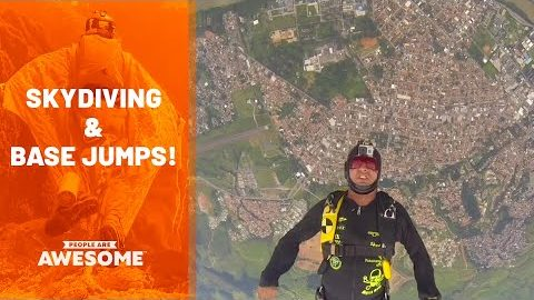 Extreme Skydiving & BASE Jumping   People Are Awesome
