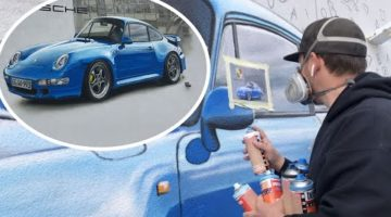 "GRAFFITI: real size PORSCHE | ""doodle grid""  TUTORIAL"