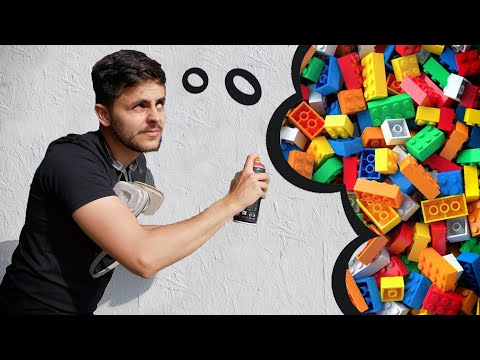 I try painting LEGO ( this is freakin HARD!)