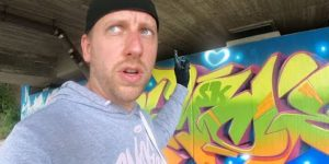 My legal Graffiti Bridge - FREESTYLE with glowy effects feat. KONT