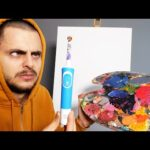 Painting with ELECTRIC⚡️Tooth Brush Only! (Wrrrrrr...)