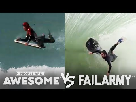 People Are Awesome vs. FailArmy: Body Surfing
