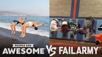 People Are Awesome vs. FailArmy | Backflips