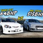 RACING MY 464BHP TURBO DC5 AGAINST AN MRC 515BHP AUDI RS3!