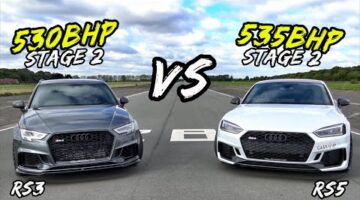 STAGE 2 530BHP AUDI RS3 VS STAGE 2 535BHP AUDI RS5 - OG BATTLES!