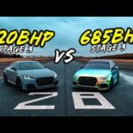 STAGE 3 685BHP AUDI RS3  VS STAGE 3 620BHP AUDI TTRS - OG BATTLES!