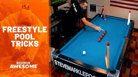 Satisfying Freestyle Pool Trick Shots | People Are Awesome