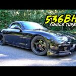 THIS 536BHP *BIG SINGLE TURBO* MAZDA RX7 IS BRUTAL!!