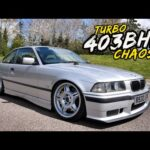THIS BUDGET BUILT 403BHP TURBO'D BMW E36 323i IS PURE CHAOS!!