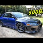 THIS SAVAGE 500BHP FULLY BUILT MITSUBISHI EVO 7 IS NUTS!!