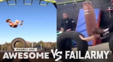 Tire Flips & More | People Are Awesome Vs. FailArmy