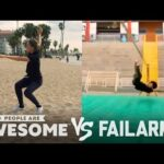Wins & Fails on the Basketball Court, Pogo Stick, Slackline & More | People Are Awesome Vs. FailArmy