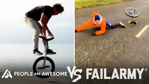 Wins Vs Fails In Unicycling