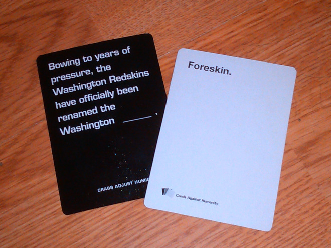 """Brilliant """"Cards Against Humanity"""" answer."""
