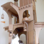 Bored Quarantined Owners Have Started Building Cardboard Castles For Cats