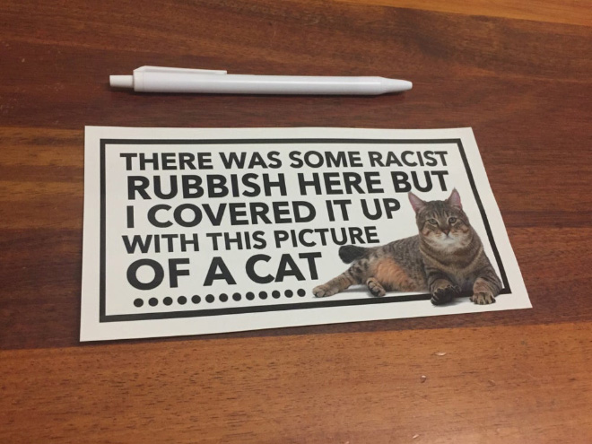 Fighting racism with cats.