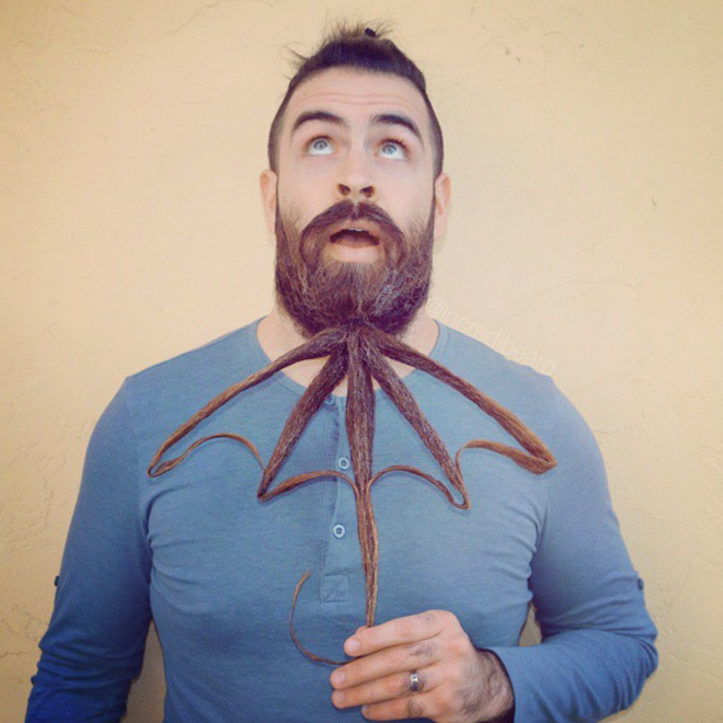 He takes his beard to the next level.