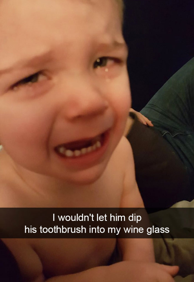 Why this kid is crying...