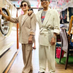 Senior Couple Poses With Clothes That Their Clients Didn't Collect, And They Look Magnificent