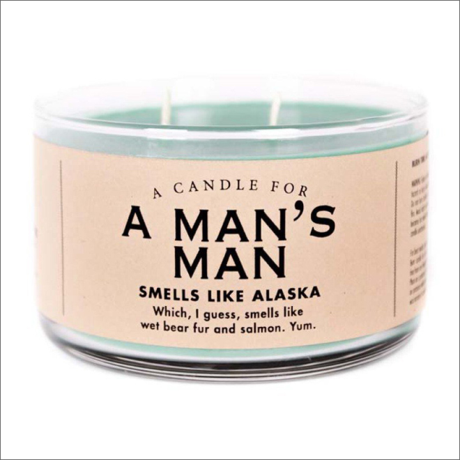 Unusually scented candle.