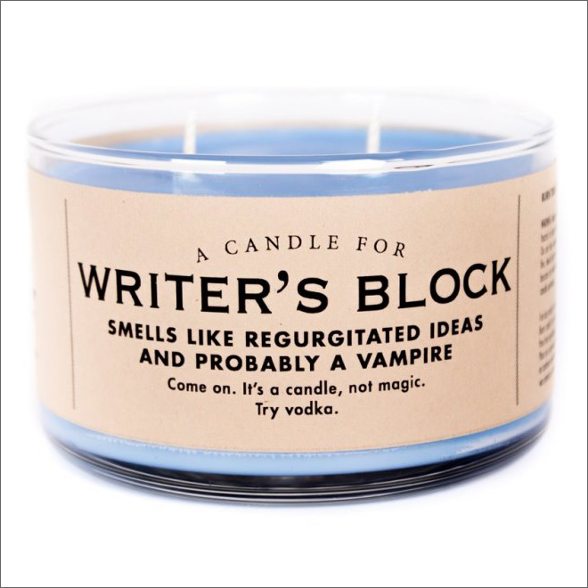 Funny scented candle.