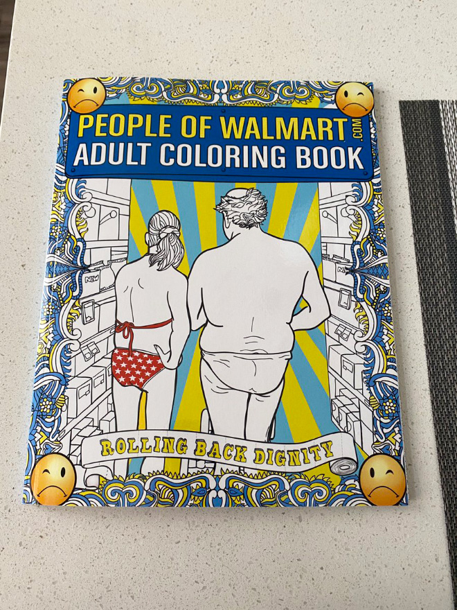 Simply sit back, relax, and choose the People Of Walmart creature that connects most with you. Then color in the wonderful weirdo with your choice of pencil, pen, marker, and/or crayon.