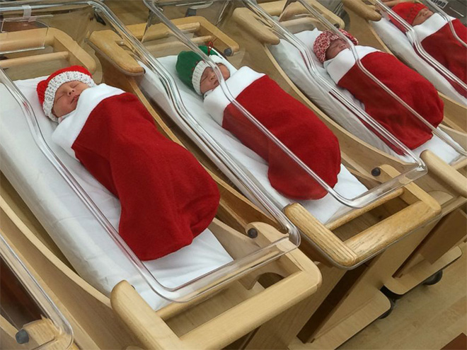 When hospital decorates for Christmas...