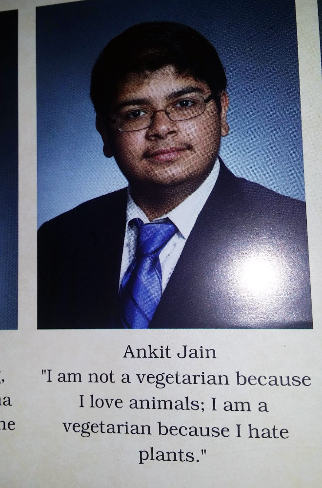 Funny yearbook quote.