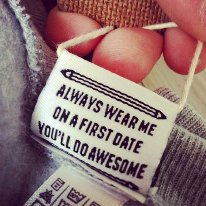 Funny clothing tag.