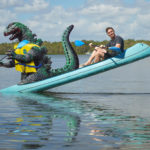 This Guy Brilliantly Photoshops Toy Godzilla In His Photos