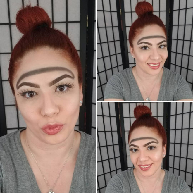 Why have two normal eyebrows when one weird eyebrow is enough?