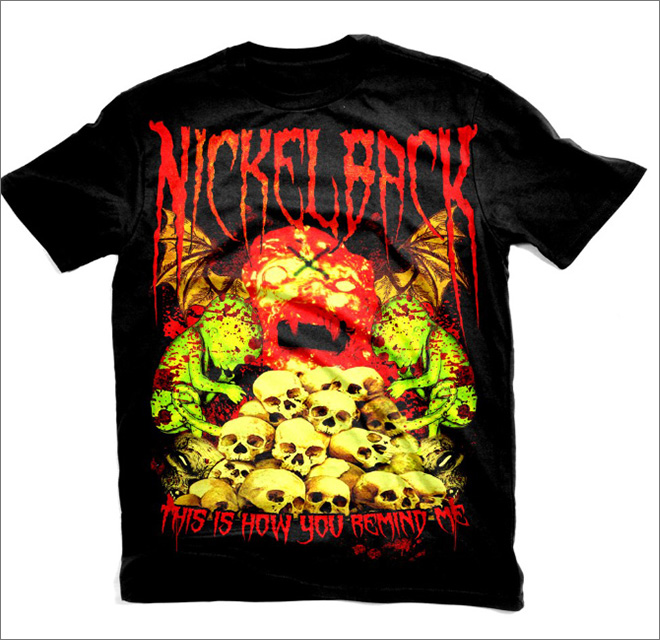 Heavy metal t-shirt for a pop star.