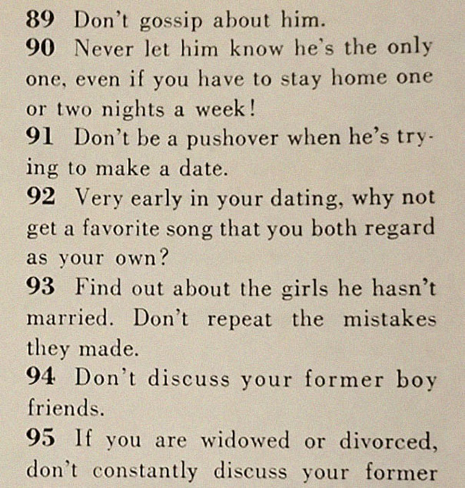 How to get a husband according to 1958 magazine.
