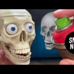 spray paint TUTORIAL | realistic SKULL CANVAS with tiny details