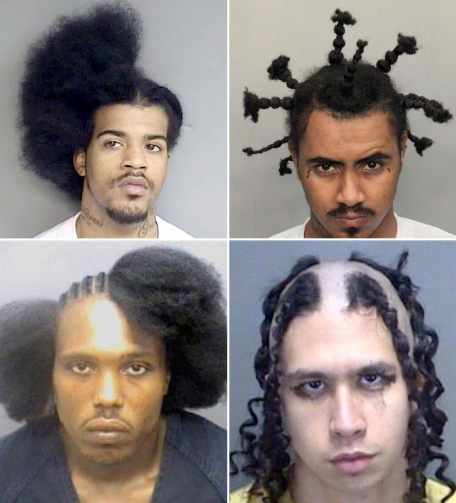 Mugshots have the best haircuts.
