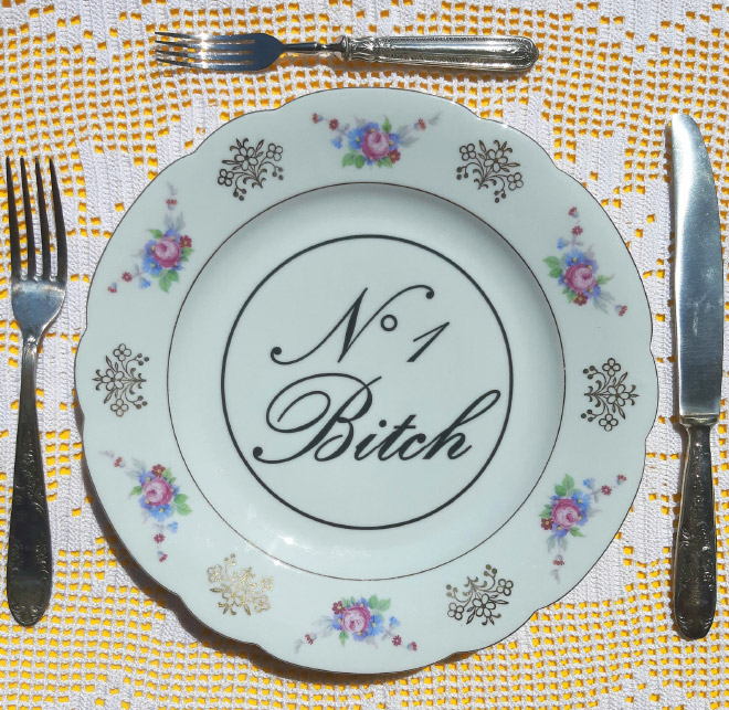 Rude plate.