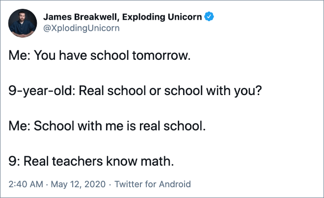 Real teachers know Math.