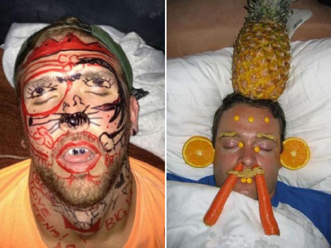 Always remember: don't be the first one to fall asleep at the party!