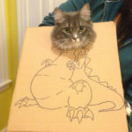 Quarantined Owners Use Cardboard Boxes To Turn Their Pets Into Dinosaurs