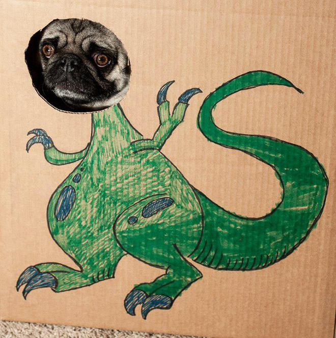 Cardboard dinosaurs are taking over the world!