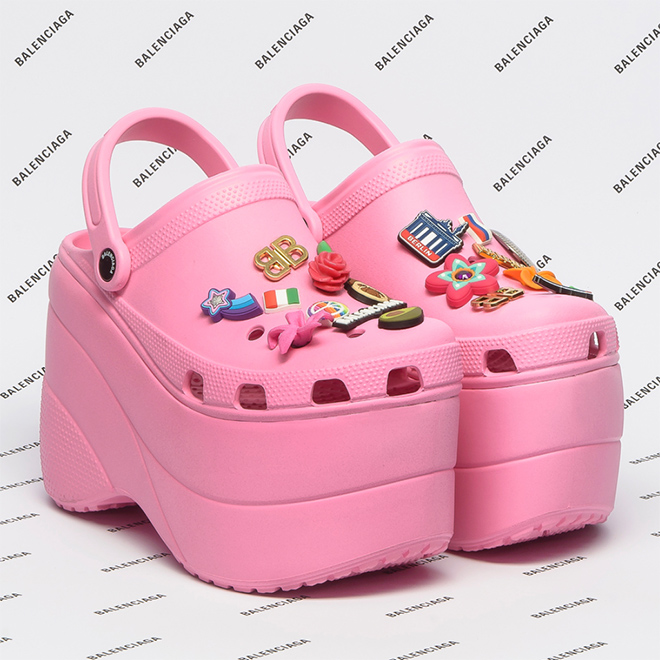 Balenciaga platform Crocs for $850!