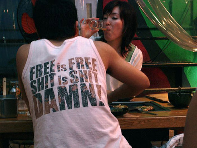 Only in Asia you see shirts like this.