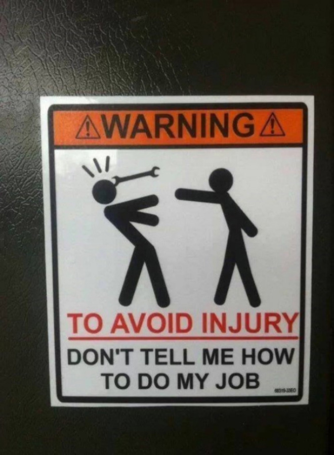 Funny warning sign.