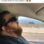 Man Falls Asleep On Roadtrip, Wife Asks Internet To Photoshop In What He Misses Along The Way