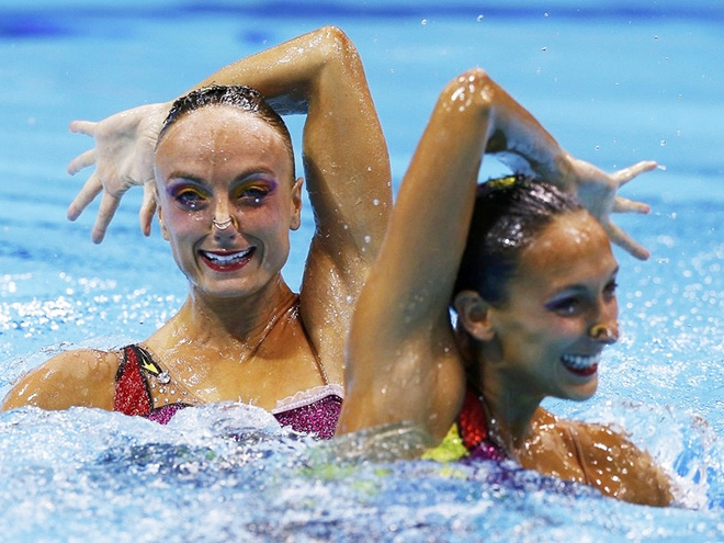 Synchronised swimming is a truly majestic sport.