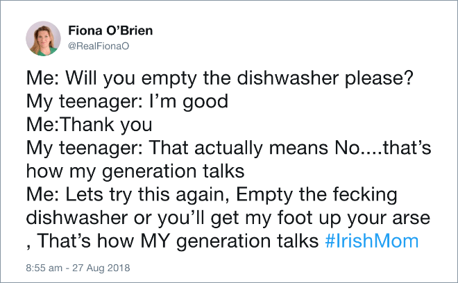 Will you empty the dishwasher please?