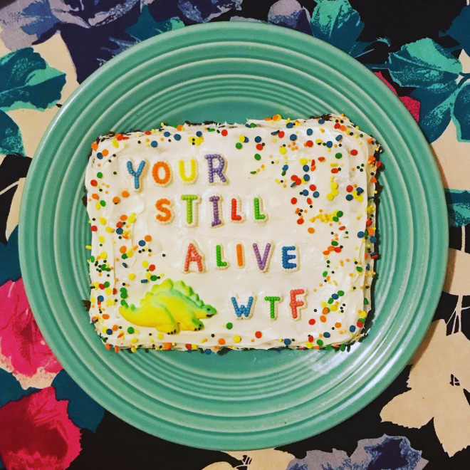 That's a really nice cake, isn't it?